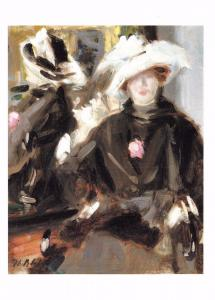 Postcard Art THE FEATHERED HAT (c1915) by Francis C.B Cadell MU2687 #410