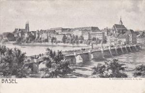 BASEL, Switzerland, 1900-1910's; Bridge