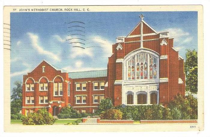St. John's Methodist Church, Rock Hill, South Carolina, PU-1952