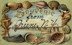 Greene, NY, New York, USA Shells, Shell Border, 1909