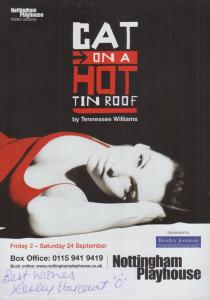 Lesley Harcourt Taggart Pathologist Cat On A Hot Tin Roof Signed Theatre Flyer