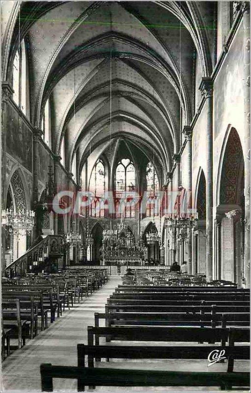 Postcard Modern Issoudun Interior of the Sacre Coeur Basilica