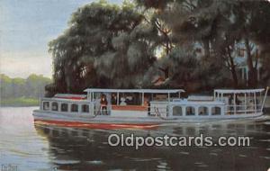 Dampfboot auf der Alster bei Winterhude  Ship Postcard Post Card Postcard Pos...