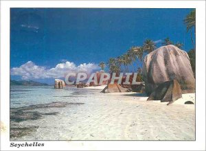 Modern Postcard Seychelles Anse Source d'Argent La Digue
