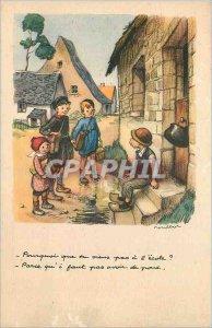 Postcard Old National League Against Slums illustrator Poulbot