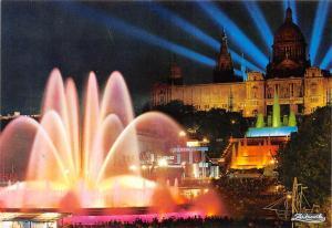 Spain Barcelona Parque de Montjuich Palacio Nacional del Arte Fuente Monumental