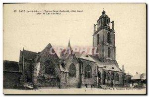 Old Postcard Batz The church Saint Guenole North Coast