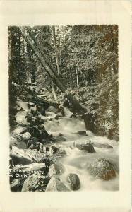 1928 Pueblo Colorado Sangre De Cristo Mountain Stream RPPC Photo Postcard 3387