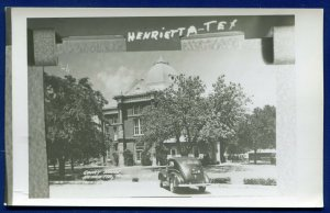 Henrietta Clay County Court House Texas tx real photo postcard RPPC