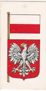 Vintage Trade Card Brooke Bond Tea Flags and Emblems Of The World No 34 Poland