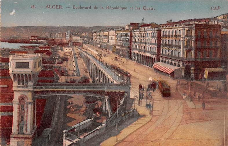 Alger Algeria, Alger, Algerie Boulevard de la Republique et les Quais Alger B...