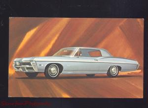 1968 CHEVY IMPALA PITTSBURGH PA. CAR DEALER VINTAGE ADVERTISING POSTCARD CARS