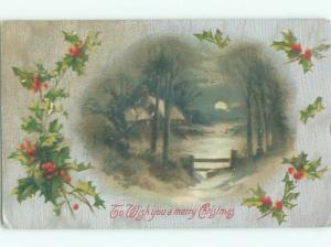 Divided-Back CHRISTMAS SCENE Great Postcard W9383
