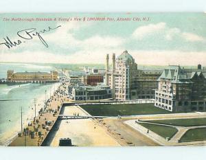 Divided-Back NEWLY BUILT MILLION DOLLAR PIER & BOARDWALK Atlantic City NJ t6226