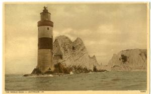The Needles Rocks & Lighthouse, early 1900s unused Postcard
