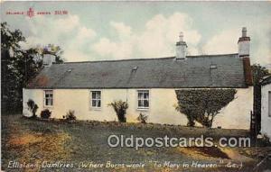 Ellisland, Dumiries Postcard Post Card Burns Wrote, To Mary in Heaven
