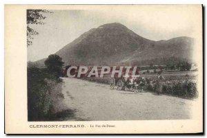 Old Postcard Clermont Ferrand Puy de Dome hitch Cows bufs