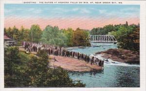 Wisconsin Shooting The Rapids At Keshena Falls Near Green Bay