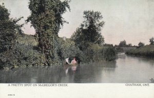 CHATHAM , Ontario , Canada , 1900-10s; A Pretty Spot on McGregor's Creek