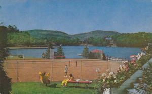 Tennis Courts , Laurentide Inn , Ste Agathe des Monts , Quebec , Canada, PU-1968