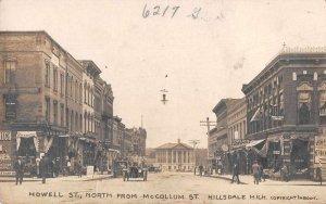 Hillsdale Michigan Howell Street Drug Store Real Photo Postcard JI658328