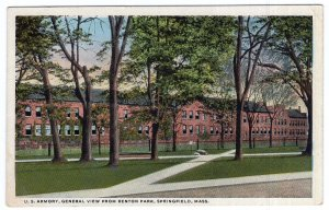 Springfield, Mass, U.S. Armory, General View From Benton Park