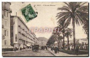 Old Postcard Nice Avenue Massena