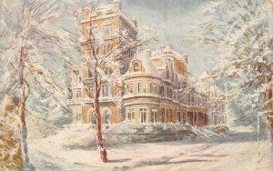 Vintage 1908 Art Postcard, Caldecote Towers Bushey Heath, THIMBLE CDS CANCEL AZ3