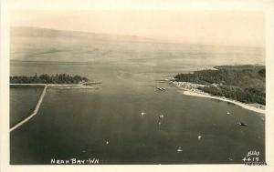 1950s Neah Bay Washington Aerial View Ellis RPPC Real photo postcard 7247