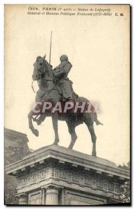 Old Postcard Paris Statue of General Lafayette and French Politician