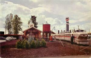 Vintage Postcard Oregon Centennial Zoo 30 Gauge Miniature Railroad Portland OR