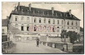 Corbigny - Superior Primary School - Abbey - Old Postcard