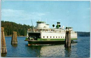 Washington State Ferry Postcard M.V. KLICKITAT Puget Sound Navigation Co. 1972