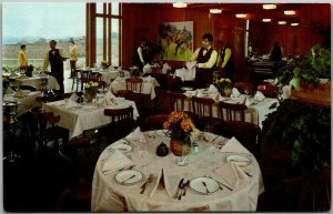 Geyserville, California Postcard CHATEAU SOUVERAIN French Restaurant Interior
