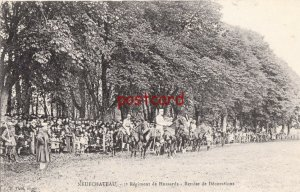 1920? FRANCE NEUFCHATEAU Regiment de Hussards, Remise de Decorations, Horses