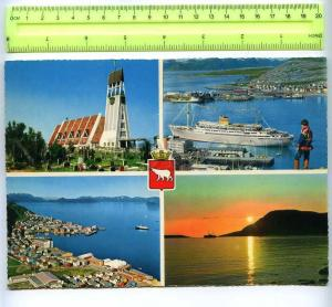 207741 NORWAY HAMMERFEST tourism ADVERTISING Old poster card