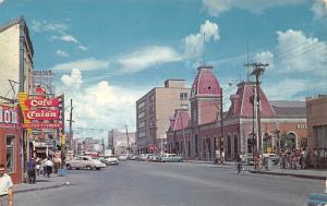 Juarez MX Café Colón~Customs House w/Mansard Roofs~Mercantile Bank 1950s Card