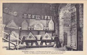 POITIERS, Le Baptistere Saint-Jean, Musee a'Art Merovingien, cree par le R.P....