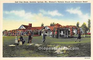 Old Vintage Golf Postcard Post Card Missouri's National Heath and Pleasu...