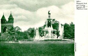 CT - Hartford. Bushnell Park, Memorial Arch, Corning Fountain