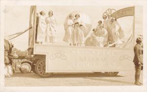 RP; Parade, WINNIPEG, Manitoba, Canada, 1931; Sunshine Lodge No. 43 Float wit...
