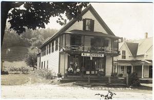Wardsboro VT M.L. Johnson Store Front Real Photo RPPC Vintage Postcard
