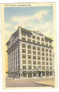 Hotel Dagmar, Hagerstown, Maryland, 1930-1940s