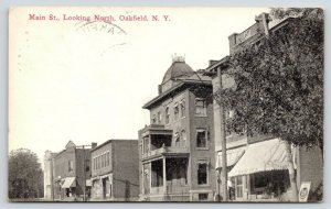 Oakfield New York~Main Street Looking North~RC Searls General Store~Flour~1913