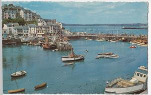 Brixham, Inner Harbour  & Harbour Wall PPC Natural Colour, 1970's, Note Trawlers