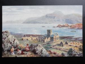 Scotland: Iona Cathedral - Art by H.B.Wimbush - Pub Raphael Tuck