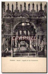 Old Postcard Genova Duomo Cappella Di Giambattista his