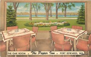 1940s Oak Room Paper Inn Port Edwards Wisconsin Fagan postcard 5244