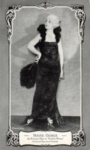 LP90 Maude George  Silent Film Movie Actor Star Postcard Foolish Wives