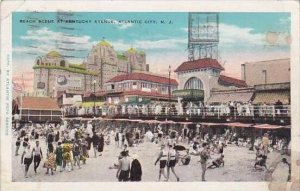 New Jersey Atlantic City Beach Scene At Kentucky Avenue 1931